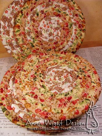 fabric coiled coasters | Sewing | Pinterest