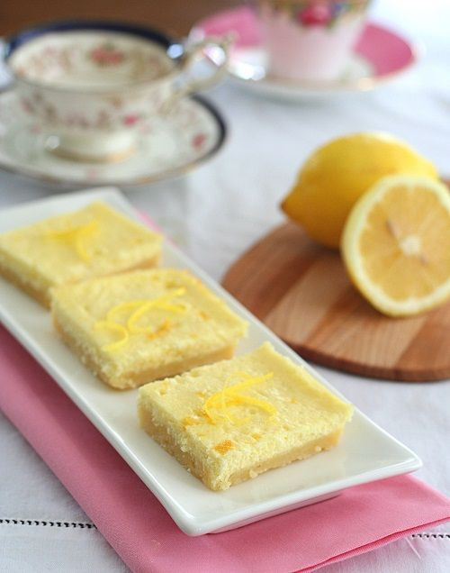 Low Carb Lemon Cheesecake Squares from All Day Long I Dream About Food