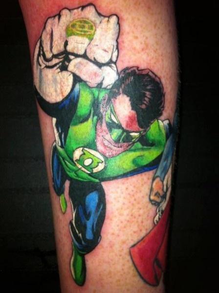 Green lantern tattoo - photo#3