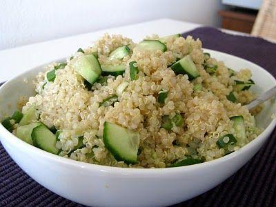 Quinoa and Cucumber Salad | Delish | Pinterest