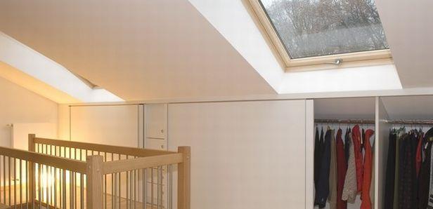 ... inbouwkast onder schuin dak  Opbergen en orde scheppen