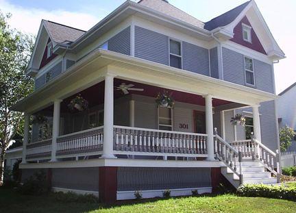 Love wrap around porches awww porches pinterest for Wrap around porch columns