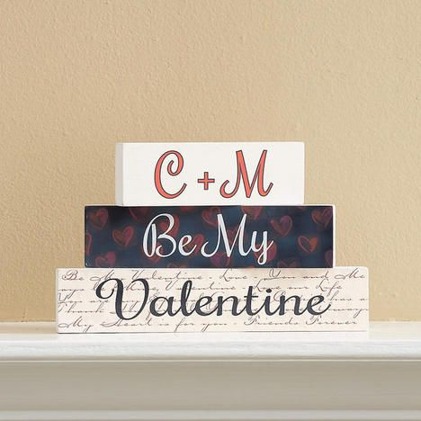 Be Mine Wooden Blocks $21.99           Now $19.79