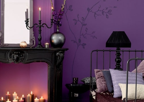 Gorgeous Purple Black Bedroom Gothic For The Home