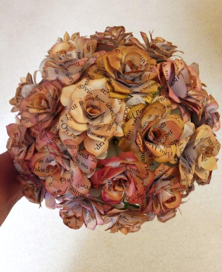 harry potter themed brides bouquet paper flower wedding
