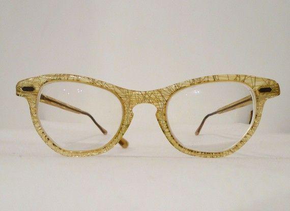 atomic era golden confetti glitter eyeglasses frames aka
