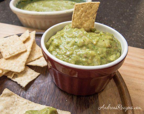 Roasted Tomatillo Jalapeno Salsa with Avocado Recipe — Andrea Meyers