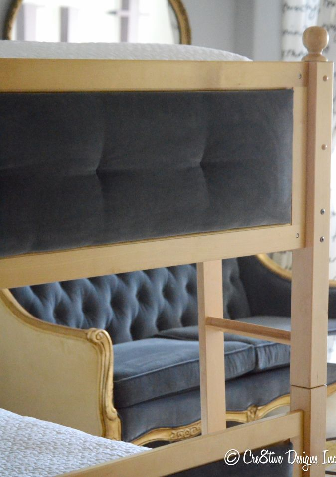 adding fabric insets to footboards