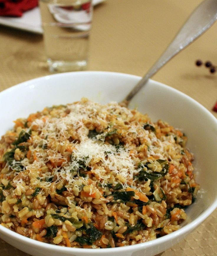 Whole Grain Risotto with Kale