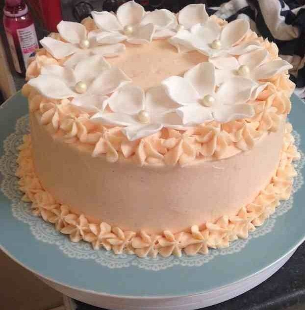 Buttercream frosting birthday cake.  Frosted cakes  Pinterest