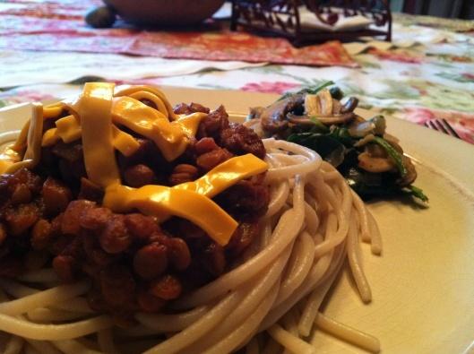 GF Vegan Skyline Chili! Cincinnati Chili made with Lentils!! Gluten ...