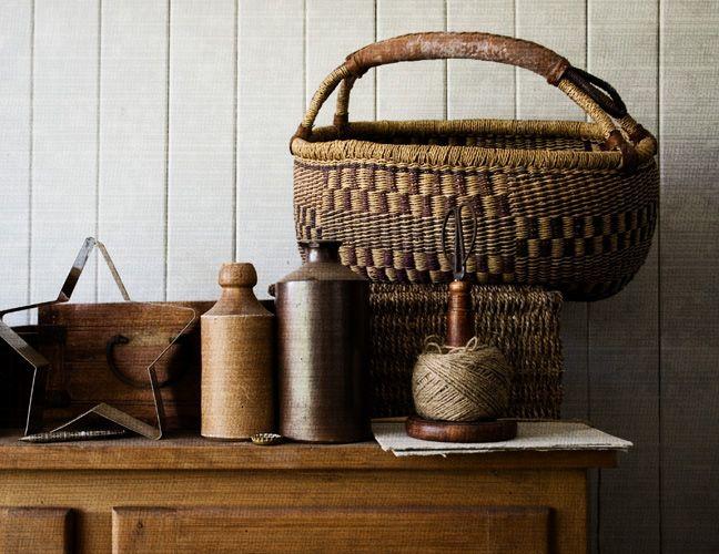 texture - woven basket and hemp