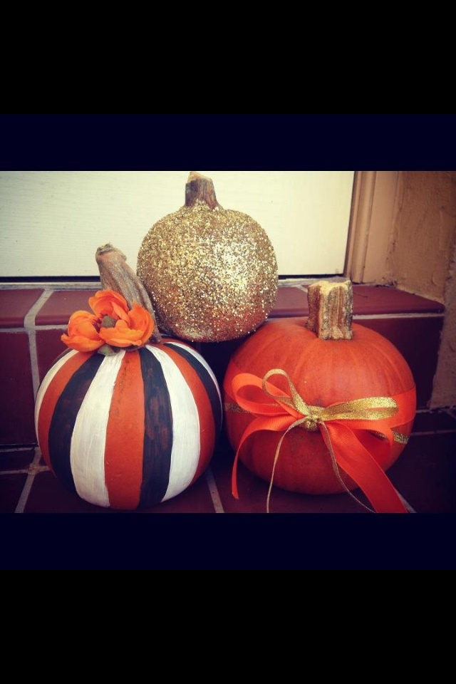 Fall decorated pumpkins :)