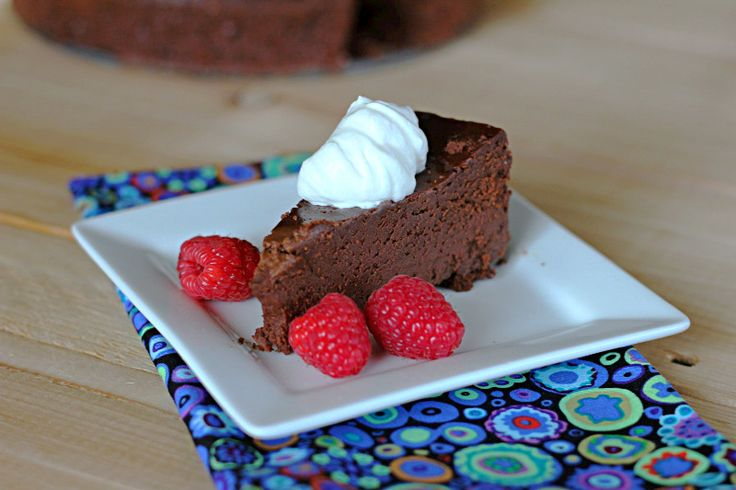 Flourless chocolate cake. I've mad this twice already, and it is ...