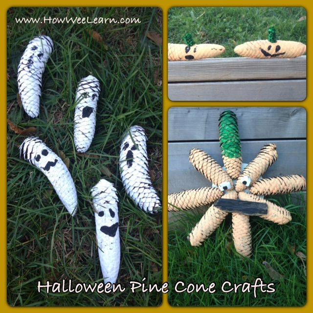 Not So Spooky Pine Cone Crafts And Matching Poems
