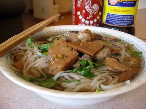 ... is my favorite noodle soup; we use homemade seitan, and it is glorious