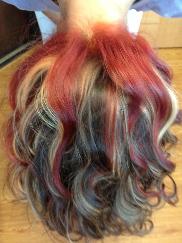 Hairstyles Red Highlights : Red and blonde highlights Hairstyles and cuts Pinterest