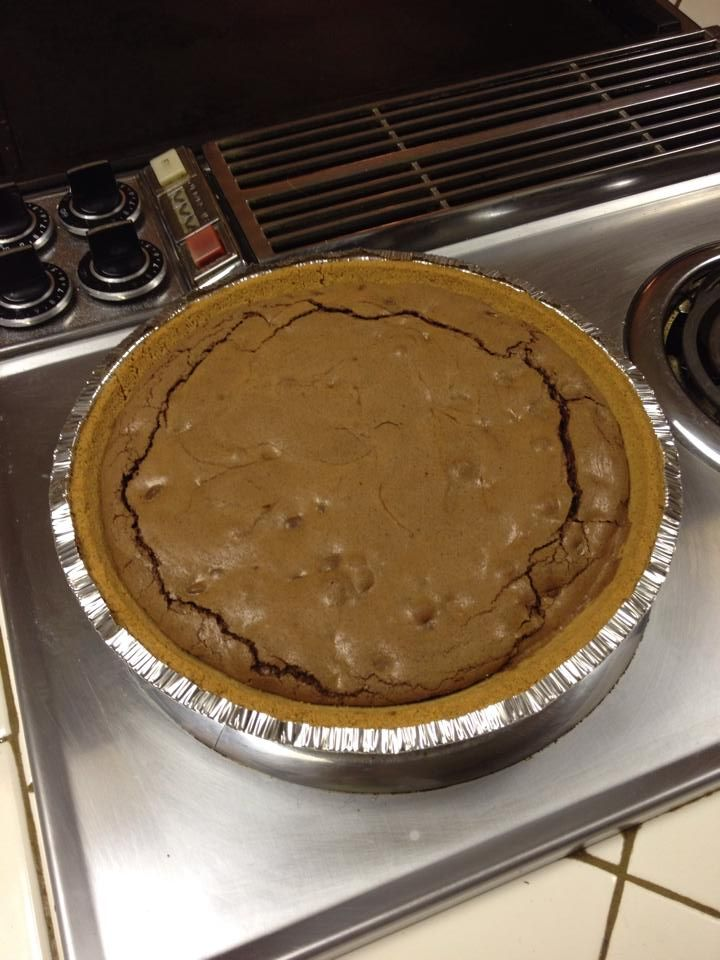 ... bow. Beat 4 minutes. Stir in chocolate chips and pour into crust. Bake