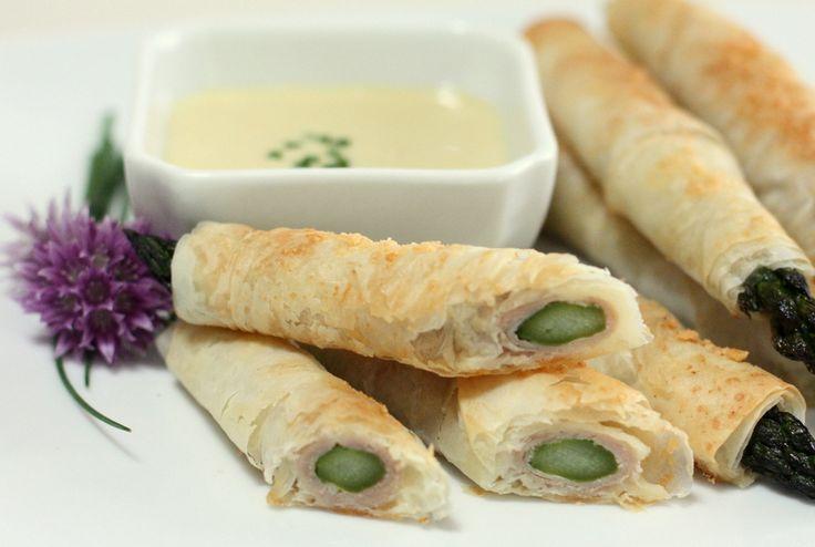 Asparagus prosciutto & cheese phyllo