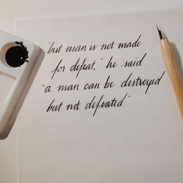Ernest Hemingway Quote Tattoo