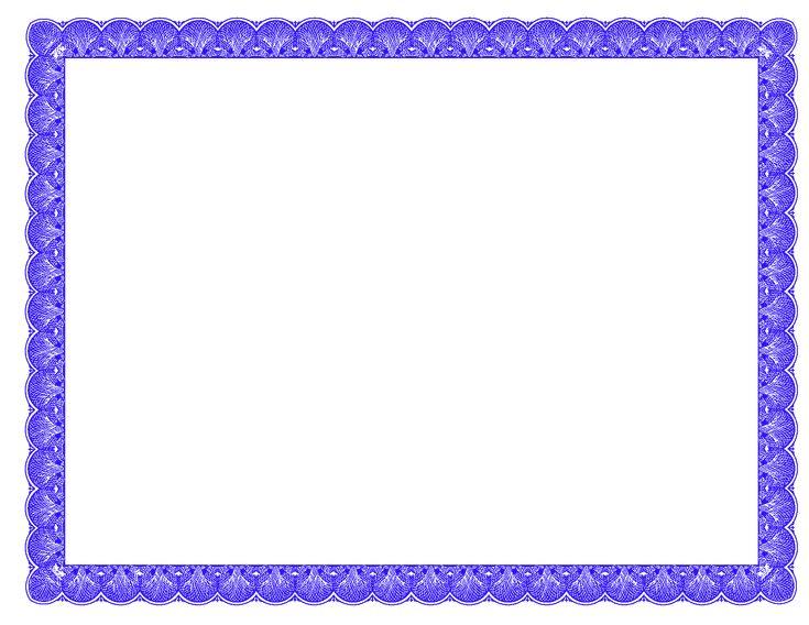 Fancy Borders | PhotoshopForums.com - Blue Fancy Certificate Border