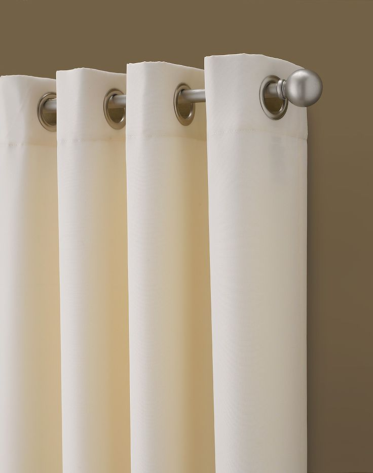 Navy And Cream Curtains Shower Tube Grommets
