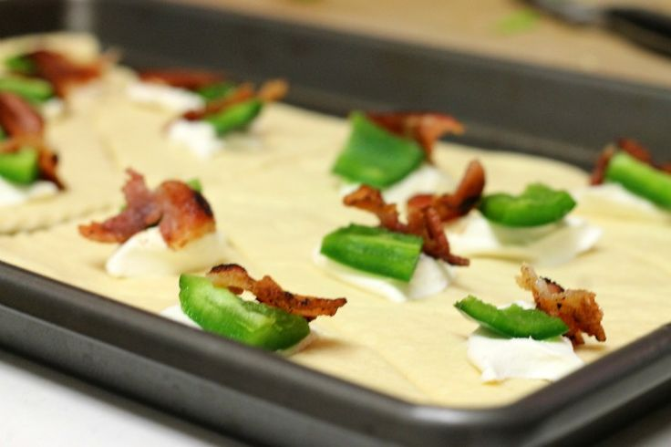 Bacon, cream cheese, jalapeno crescent roll ups! Make a margarita and ...