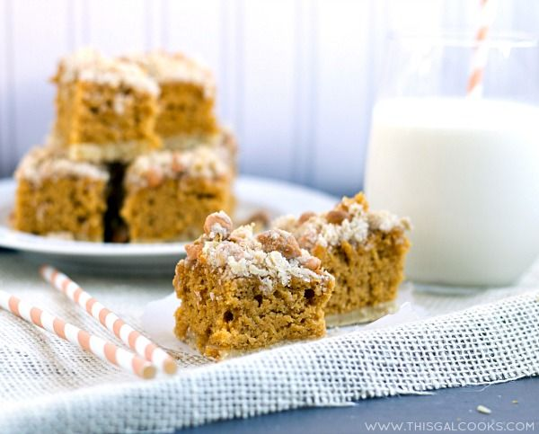 Pumpkin Cookie Bars with Butterscotch Chip Streusel from www ...