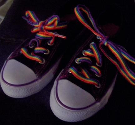 GIRL SIZE 13 SHAKE IT UP SHOES CANVAS SNEAKERS, BLACK WITH RAINBOW