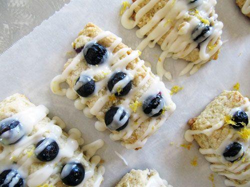 Meyer Lemon Blueberry Scone with Glaze | sweets | Pinterest