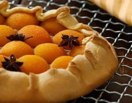 rustic desserts | Rustic apricot and anise tart recipe