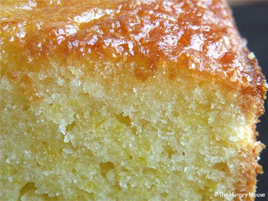 Close up of orange pound cake