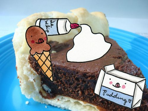 Double Chocolate Ice Cream Pudding Pie from Cakespy — Good Eats! A ...