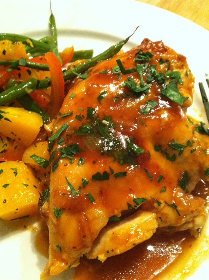 Crock-pot Apricot Glazed Chicken | Favorite Recipes | Pinterest