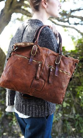 Handmade in Italy. Gorgeous brown tote