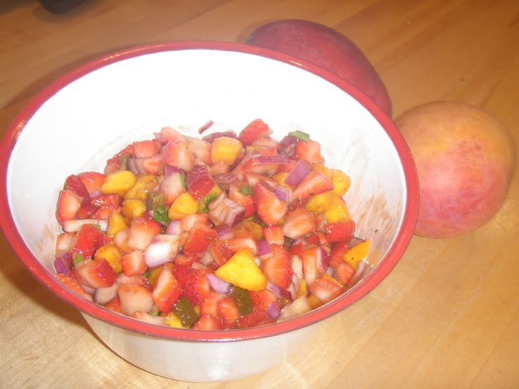 Strawberry and Mango Salsa - this is a great salsa to make for the ...