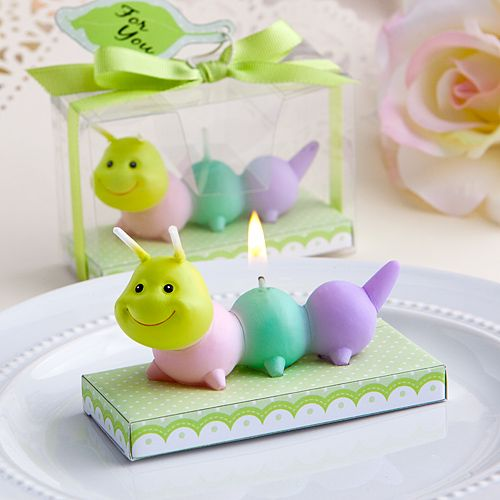 baby caterpillar candle favors baby shower favor ideas pinterest
