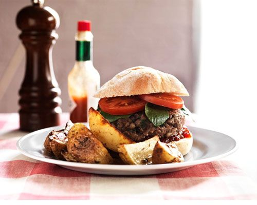 Homemade Burgers with Chunky Wedges | Food&Drink | Pinterest