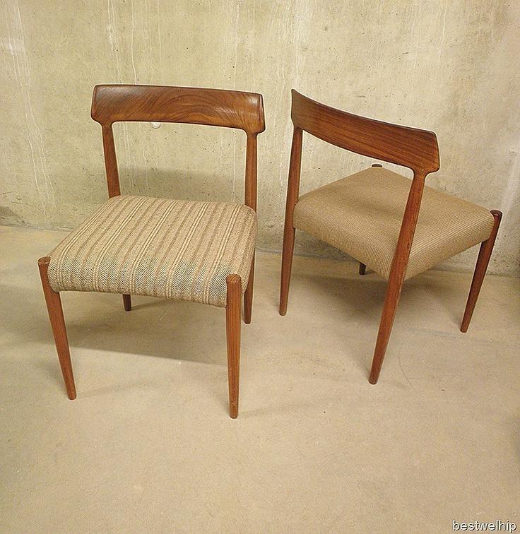 Vintage Deense eetkamer stoelen   retro  Pinterest