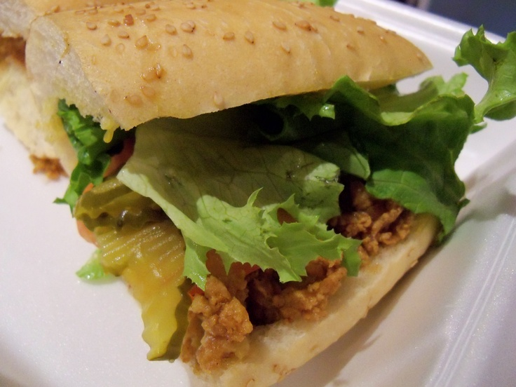Fried oyster po-boy (Cooter Brown's) | New Orleans | Pinterest