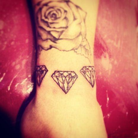 triple diamond tattoo