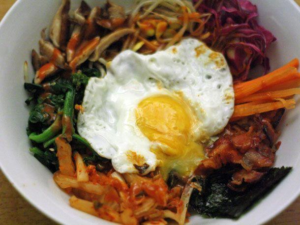 Bibimbap with Bacon and Kimchi   Recipe