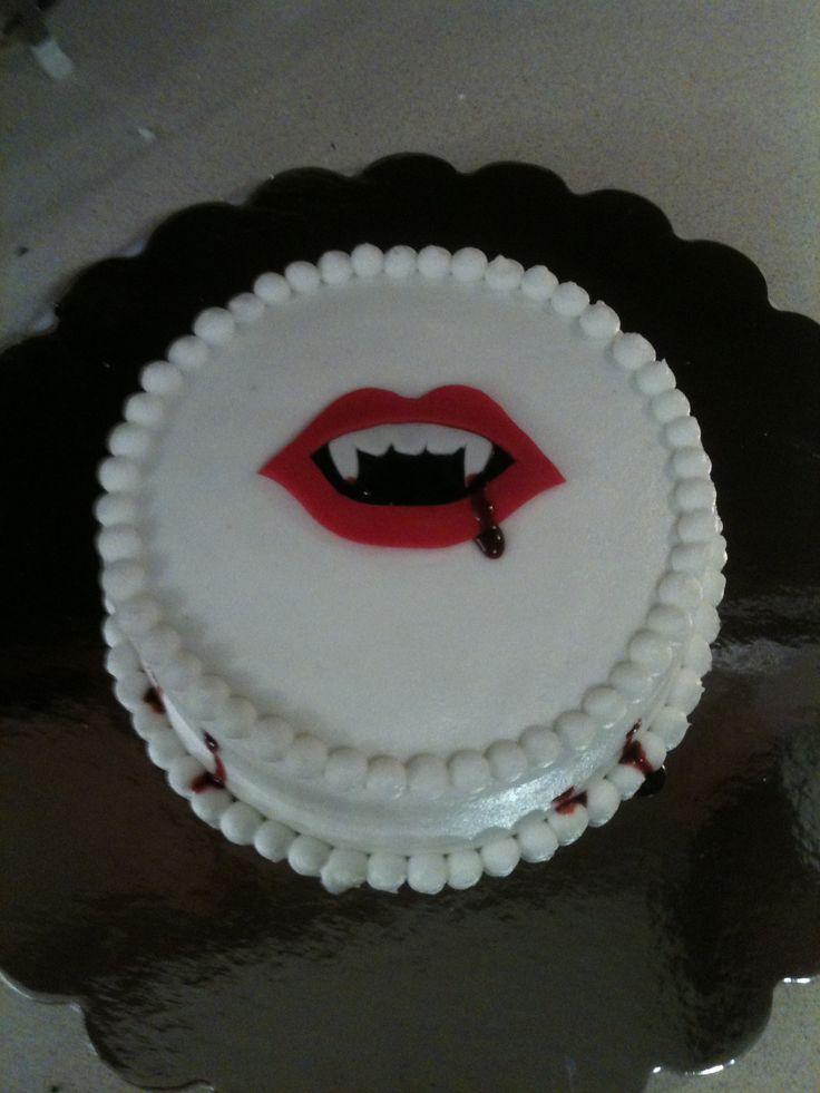 vampire birthday cake