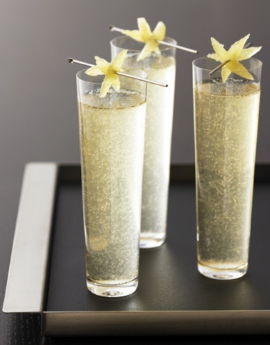 Wedding signature drink? GREY GOOSE® LA POIRE: 6 parts GREY GOOSE® La Poire, 1 part lemon juice, 2 tsp sugar, 1 small pear – peeled, cored and cut into 1/4 inch dice, 1 bottle sparkling moscato (or other sweet sparkling wine)