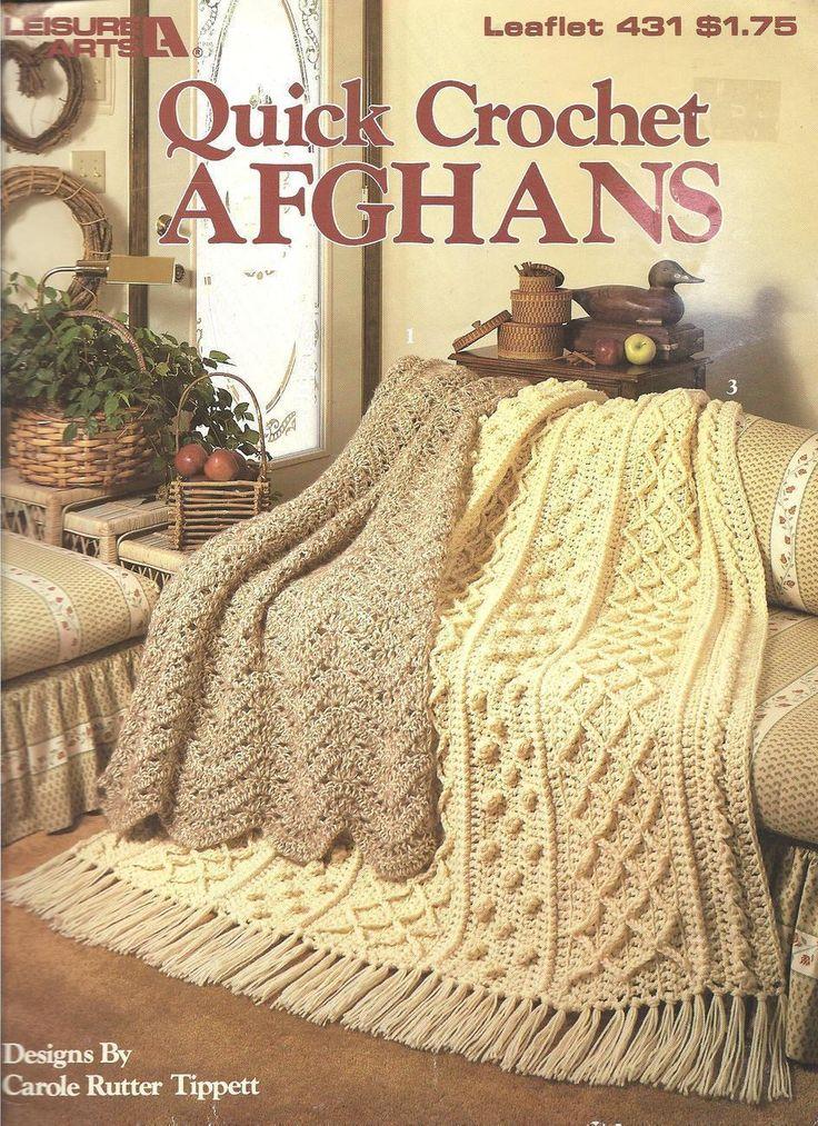 Quick Crochet Afghan Patterns~3 Designs~OOP