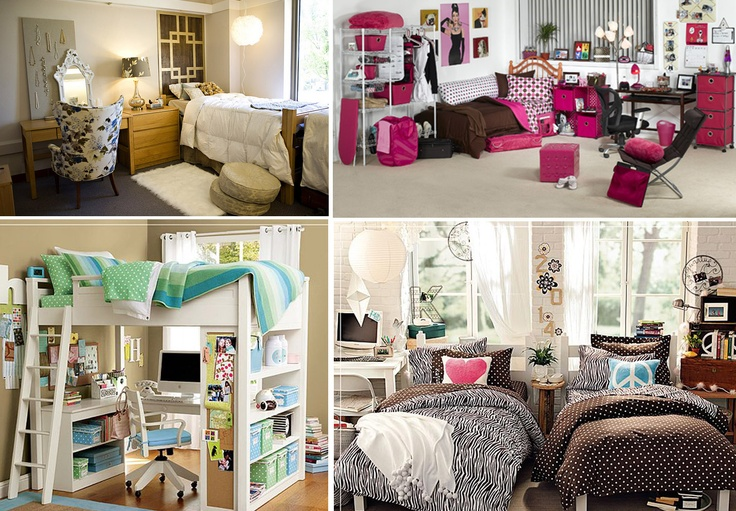 Pin by Melanie Bratcher on Dorm Room Ideas  Pinterest ~ 071733_Chic Dorm Room Ideas