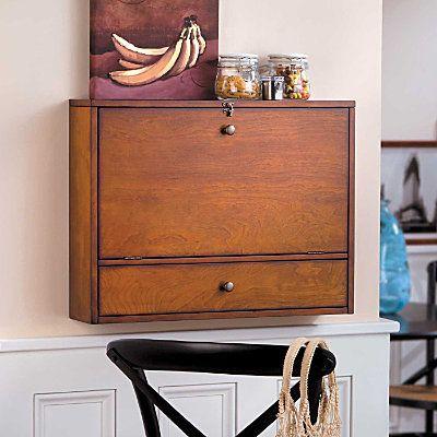 drop down wall mount desk home decor pinterest. Black Bedroom Furniture Sets. Home Design Ideas