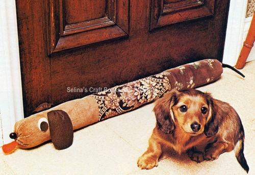 Draft stopper sewing craft pattern the diy area 51 pinterest - Dog door blocker ...