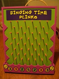 Singing Time Plinko. I have to make this!!!