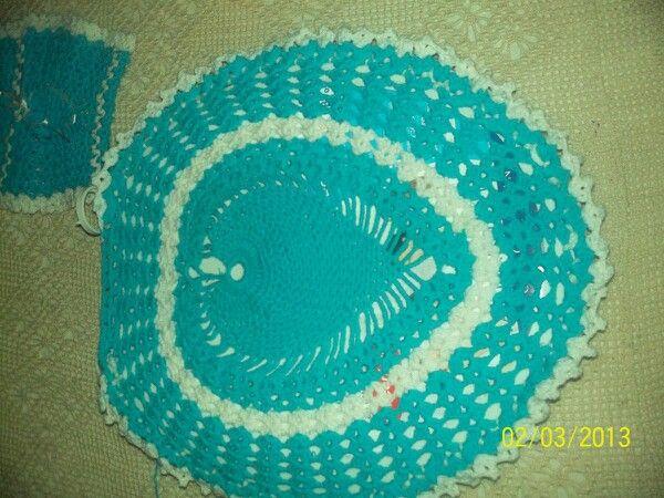 Juegos De Baño De Crochet:Juegos de baño en crochet